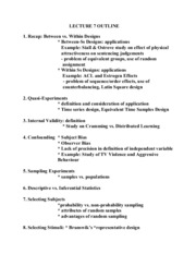 2030 LECTURE 7 OUTLINE1