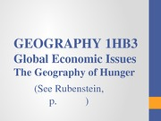 1HB3 Lecture 7 Hunger 2014