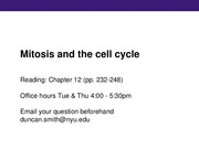 15 - Mitosis and the cell cycle-clean