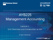 AYB225 Lecture 01 Sem 2 2015-2