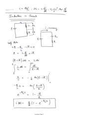 Notes Week April 28 Inductance AC circuits