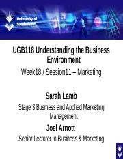 UGB118 Week 11 lecture on Marketing 2014.pptx