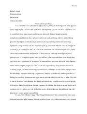 power and responsibility essay