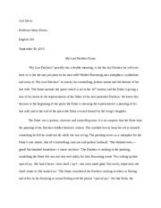essay on the poem my last duchess
