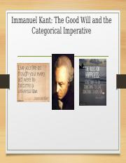 Part II summary of Kant.ppt