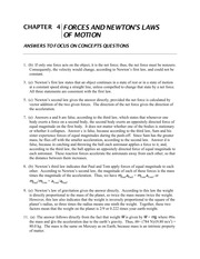 Assignment Solutions - Forces and Newton's Laws of Motion