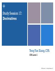 SS17 - Derivatives TAR CFA lvl1.pdf