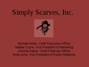 Simply Scarves Inc