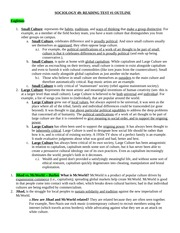 Culture Study Guide_SOCIOLOGY 49 READING TEST OUTLINE
