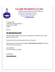 GLOBE PHARMACY LTD.docx