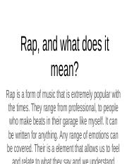 Rap, and what does it mean?.pptx