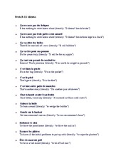 French 11 Idioms