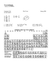 CHEM 3740 - Physical Chemistry 2 Exam III (Leskiw)
