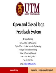 Chp8_Open and Closed Loop System