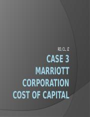 "marriott corporation the cost of capital solution Free essay: marriott corporation: questions for hbs case ""marriott corporation: the cost of capital"" 1) are the four components of marriott's financial."