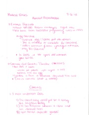 PHL 223 Assisted Reproduction Notes