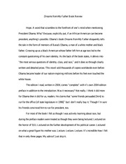 obama dreams from my father essay