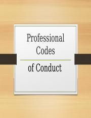 Professional Codes of Conduct.ppt