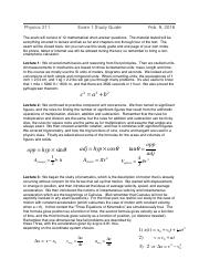 Physics211Exam1StudyGuide