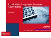 BUSS3500 Session 9