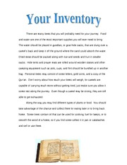 Your Inventory, supplies