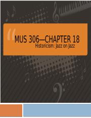 Chapter 18-Historicism, Jazz on Jazz