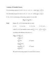 2.2.1 Continuity of Probability and CDF