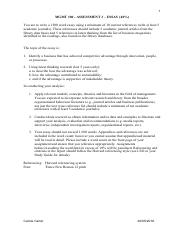 MGMT100 Essay Guidelines