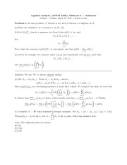 Midterm Exam 3 Spring 2011 Solution on Applied Analysis 2