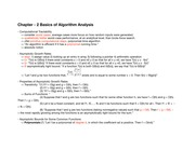 Chapter - 2 Basics of Algorithm Analysis