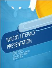 Parent Literacy Presentation.ppt