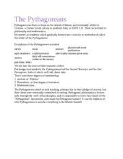 The Pythagoreans