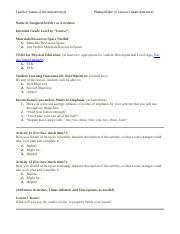 Lesson Plan Format (KINE 2310) (Updated Spring 2017).docx