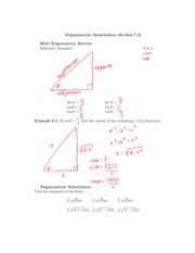 integration by trigonometric substitution examples pdf