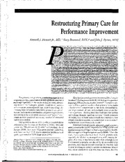 restructuring PCP for PI article