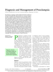 diagnosis and management of preeclampsia