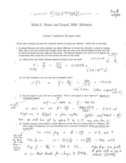 MATH 5 Fall 2008 Midterm Exam 2 Solutions