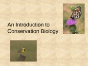 Conservation Biology Powerpoint