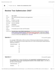 Review Test Submission: Ch07