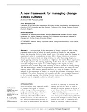 A new framework for managing change across cultures - JofCM