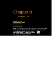 FCF 9th edition Chapter 09