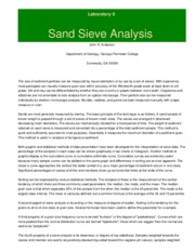 Sand Sieve Analysis