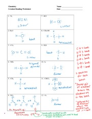 Drawing chemical bonds worksheet answers