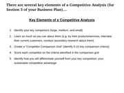 MGT 420 - Business Plan Section 3 - Competitive Analysis