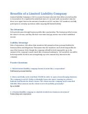 Benefits of a Limited Liability Company.docx