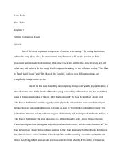 Setting Compare and Contrast Essay.docx