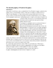 A biography of Frederick Douglass