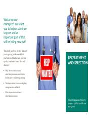 Recruitment and Selection Brochure  Week 6.docx