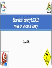 ES Lec#08 Notes on Electrical Safety.pdf