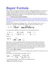 Bayesian Conditional Probability